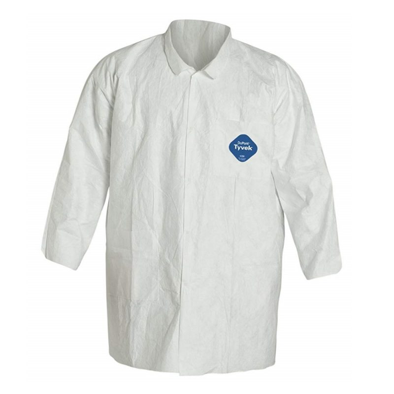 TYVEK SNAP CLOSURE LAB COAT